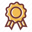 achievement, award, badge, medal, ribbon, star