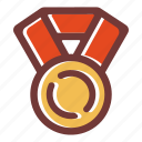 award, games medal, medal, prize medal, star, trophy medal, winner medal icon