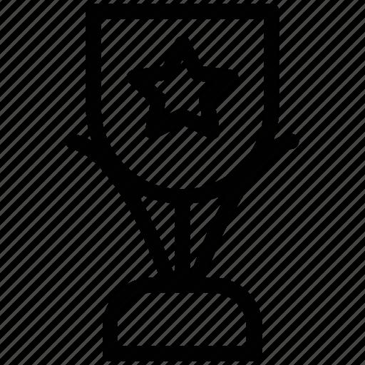 award, position prize, rank, reward, star, trophy icon