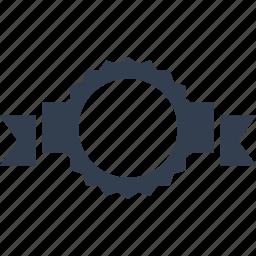 award, label, ribbon, tag, template, warranty icon