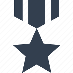 army, award, hero, medal, ribbon, star, veteran, war icon