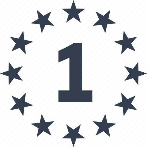 award, challenge, first place, number one, star, winner, winning icon
