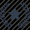 star, ribbon, award icon