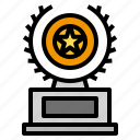 award, badge, reward, trophy, winner icon