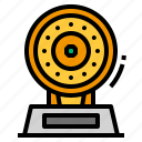 dish, gold, trophy icon