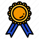gold, medal, prize icon