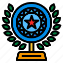 leave, star, trophy icon
