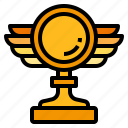trophy, wing icon