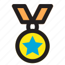 gold, medals, prize, reward, star, winner