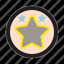 gold, medasl, prize, reward, star, winner