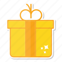 celebration, christmas, decoration, gift, gold icon