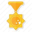 achievement, cup, gold, medal, trophy, winner icon