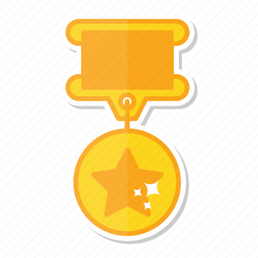 achievement, gold, medal, star icon