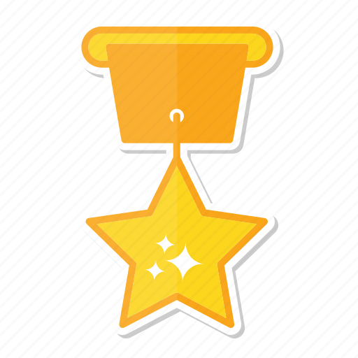 achievement, award, gold, medal, prize, star icon
