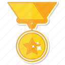 medal, achievement, reward, best, gold