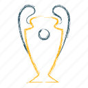 champion, champions, league, trophy, winner icon