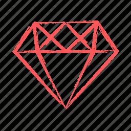 diamond, gemstone, precious, stone icon