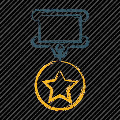achievement, gold, medal, prize, star, win icon
