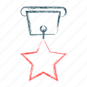 achievement, medal, star, trophy icon
