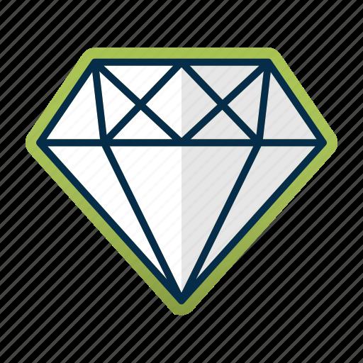 business, card, diamond, finance, gemstone, gold, stone icon