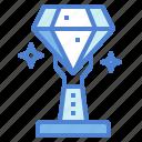diamond, jewel, luxury, trophy icon