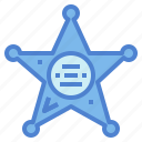 police, protection, sheriff icon