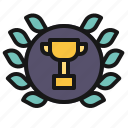 award, certificate, laurel, medal, trophy, wreath