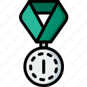 1st, award, medal, prize, trophy, winner icon