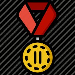 2nd, award, medal, prize, trophy, winner icon
