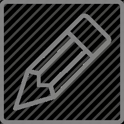 document, draw, edit, pen, pencil, write icon