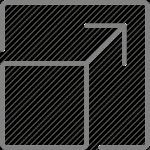 arrow, arrows, expand, fullscreen, maximize, zoom icon