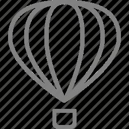 balloon, fly, flying, hot air balloon, hotairballoon icon