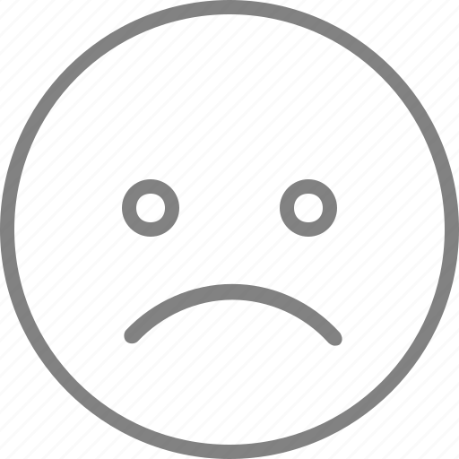 emoticon, emotion, face, sad, smile, smiley, user icon