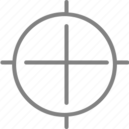 aim, goal, gps, location, navigation, target, zoom icon