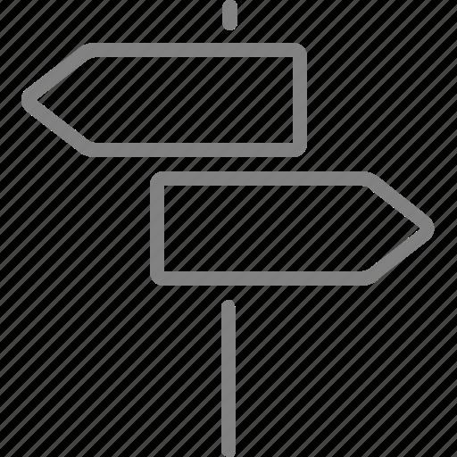 arrow, sign, streetsign, traffic icon