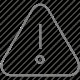 alert, caution, danger, error, info, problem, warning icon