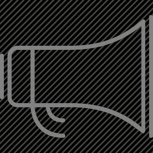 advertising, bullhorn, communication, megaphone, speaker icon