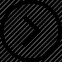 arrow, circle, next, right icon
