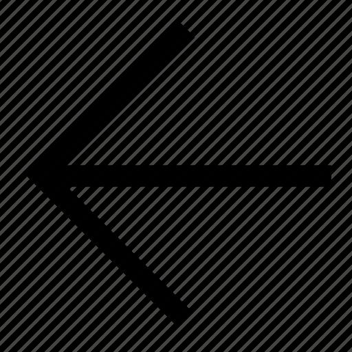 arrow, back, backward, direction, left icon