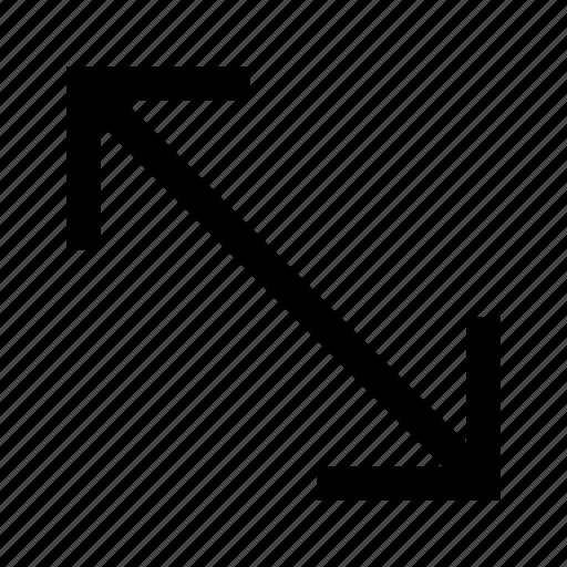 arrow, arrows, corner, direction, expand icon
