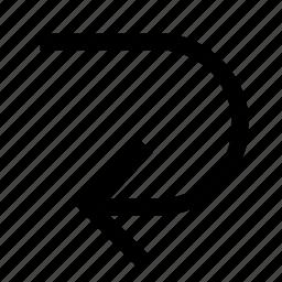 arrow, back, left, previous, reload icon