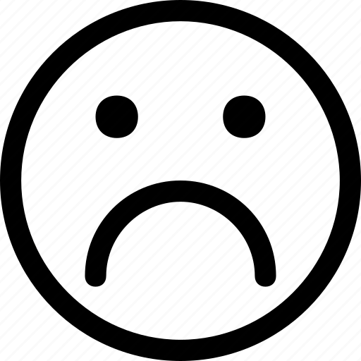 emoticon, emoticons, emotion, face, sad, smile, smiley icon