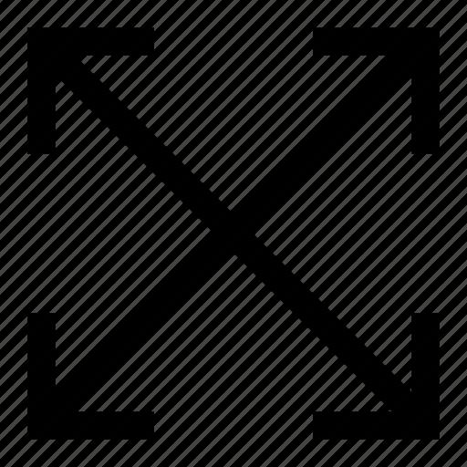 arrow, arrows, expand, fullscreen, screen, stretch icon