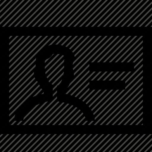 badge, id, person, profile, user icon