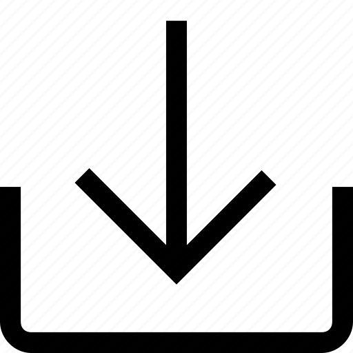 arrow, direction, download, import icon