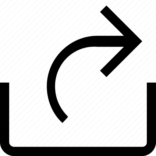 arrow, media, right, share, social icon