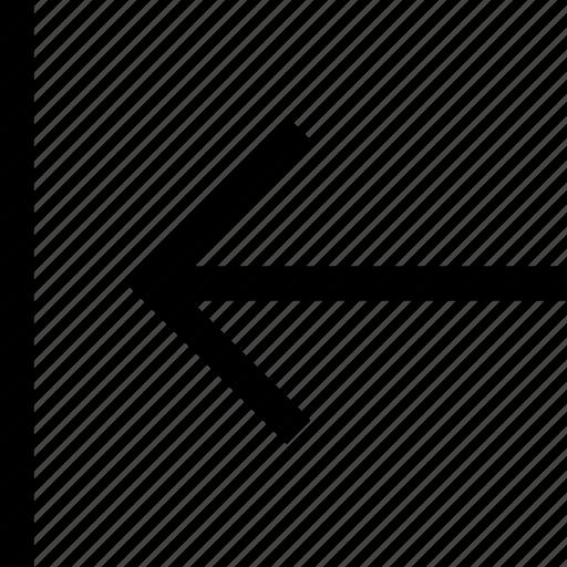 arrow, back, left, previous, shift icon