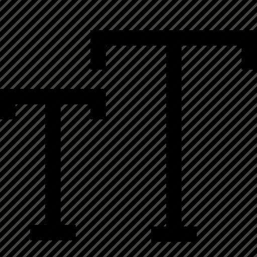 smallcap, text, type icon
