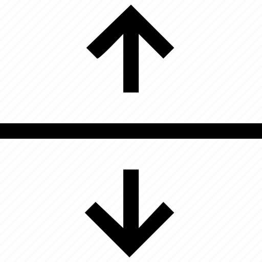 expand, split icon