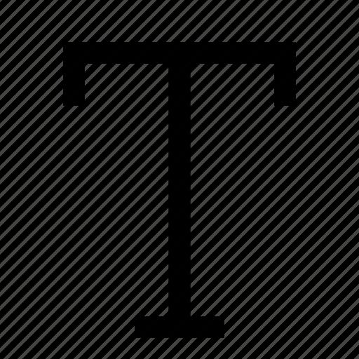 text, type icon